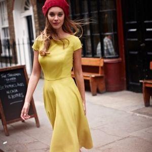 Boden Finsbury Wool Dress Turmeric 16